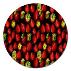 Berry Strawberry Many Magnet 5  (round) by Simbadda