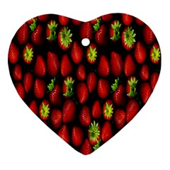 Berry Strawberry Many Heart Ornament (two Sides) by Simbadda
