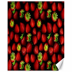 Berry Strawberry Many Canvas 16  X 20   by Simbadda