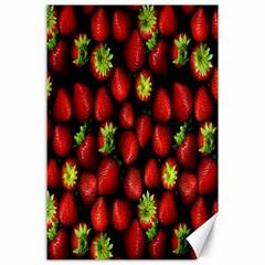 Berry Strawberry Many Canvas 24  X 36  by Simbadda