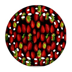 Berry Strawberry Many Round Filigree Ornament (two Sides) by Simbadda