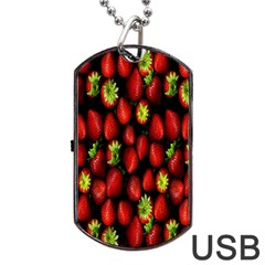 Berry Strawberry Many Dog Tag Usb Flash (two Sides) by Simbadda