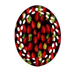 Berry Strawberry Many Ornament (oval Filigree) by Simbadda