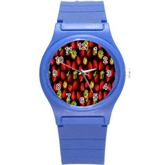Berry Strawberry Many Round Plastic Sport Watch (s) by Simbadda