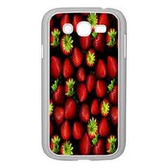 Berry Strawberry Many Samsung Galaxy Grand Duos I9082 Case (white) by Simbadda