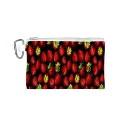 Berry Strawberry Many Canvas Cosmetic Bag (s) by Simbadda