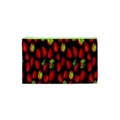 Berry Strawberry Many Cosmetic Bag (xs) by Simbadda