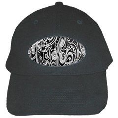 Black White Pattern Shape Patterns Black Cap by Simbadda