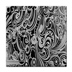 Black White Pattern Shape Patterns Tile Coasters by Simbadda