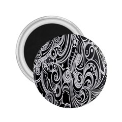 Black White Pattern Shape Patterns 2 25  Magnets by Simbadda