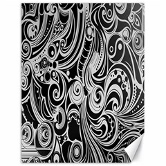 Black White Pattern Shape Patterns Canvas 18  X 24   by Simbadda