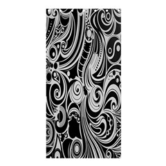 Black White Pattern Shape Patterns Shower Curtain 36  X 72  (stall)  by Simbadda