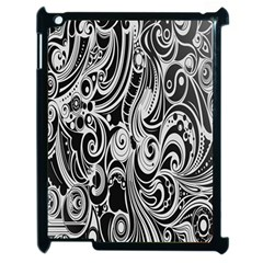 Black White Pattern Shape Patterns Apple Ipad 2 Case (black) by Simbadda