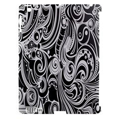 Black White Pattern Shape Patterns Apple Ipad 3/4 Hardshell Case (compatible With Smart Cover) by Simbadda