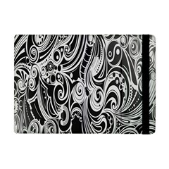 Black White Pattern Shape Patterns Apple Ipad Mini Flip Case by Simbadda