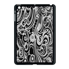 Black White Pattern Shape Patterns Apple Ipad Mini Case (black) by Simbadda