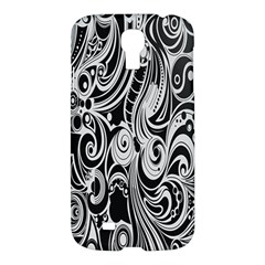 Black White Pattern Shape Patterns Samsung Galaxy S4 I9500/i9505 Hardshell Case by Simbadda