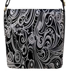 Black White Pattern Shape Patterns Flap Messenger Bag (s) by Simbadda