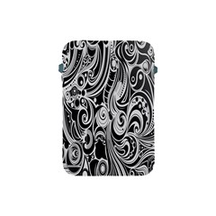 Black White Pattern Shape Patterns Apple Ipad Mini Protective Soft Cases by Simbadda