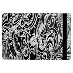 Black White Pattern Shape Patterns iPad Air Flip by Simbadda