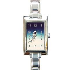 Astronaut Rectangle Italian Charm Watch by Simbadda
