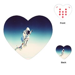 Astronaut Playing Cards (heart)  by Simbadda