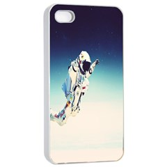 Astronaut Apple Iphone 4/4s Seamless Case (white) by Simbadda