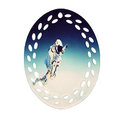 Astronaut Oval Filigree Ornament (two Sides) by Simbadda