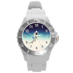 Astronaut Round Plastic Sport Watch (l) by Simbadda