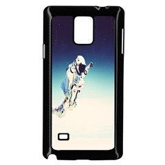 Astronaut Samsung Galaxy Note 4 Case (black) by Simbadda