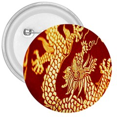 Fabric Pattern Dragon Embroidery Texture 3  Buttons by Simbadda
