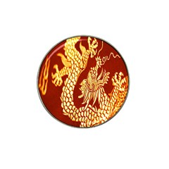 Fabric Pattern Dragon Embroidery Texture Hat Clip Ball Marker (10 Pack) by Simbadda