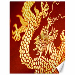 Fabric Pattern Dragon Embroidery Texture Canvas 18  X 24   by Simbadda
