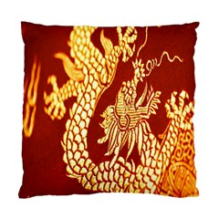 Fabric Pattern Dragon Embroidery Texture Standard Cushion Case (one Side) by Simbadda