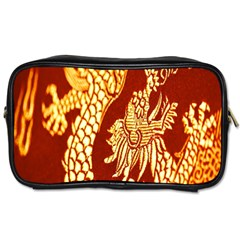 Fabric Pattern Dragon Embroidery Texture Toiletries Bags 2 Side by Simbadda