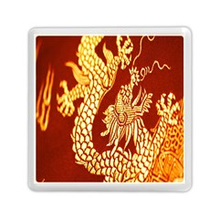 Fabric Pattern Dragon Embroidery Texture Memory Card Reader (square)  by Simbadda