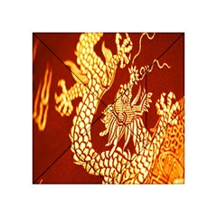 Fabric Pattern Dragon Embroidery Texture Acrylic Tangram Puzzle (4  X 4 ) by Simbadda