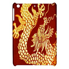 Fabric Pattern Dragon Embroidery Texture Apple Ipad Mini Hardshell Case by Simbadda