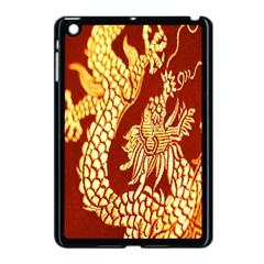 Fabric Pattern Dragon Embroidery Texture Apple Ipad Mini Case (black) by Simbadda
