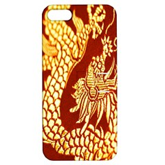 Fabric Pattern Dragon Embroidery Texture Apple Iphone 5 Hardshell Case With Stand by Simbadda