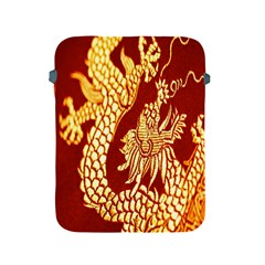 Fabric Pattern Dragon Embroidery Texture Apple Ipad 2/3/4 Protective Soft Cases by Simbadda