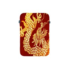 Fabric Pattern Dragon Embroidery Texture Apple Ipad Mini Protective Soft Cases by Simbadda