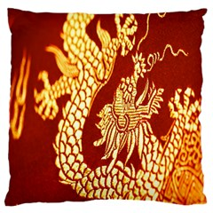 Fabric Pattern Dragon Embroidery Texture Standard Flano Cushion Case (two Sides) by Simbadda