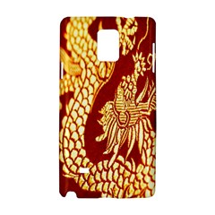 Fabric Pattern Dragon Embroidery Texture Samsung Galaxy Note 4 Hardshell Case by Simbadda