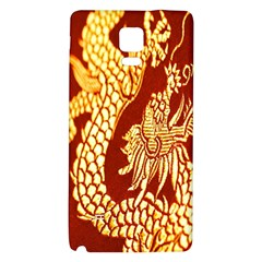 Fabric Pattern Dragon Embroidery Texture Galaxy Note 4 Back Case by Simbadda