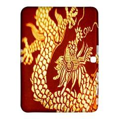 Fabric Pattern Dragon Embroidery Texture Samsung Galaxy Tab 4 (10 1 ) Hardshell Case  by Simbadda