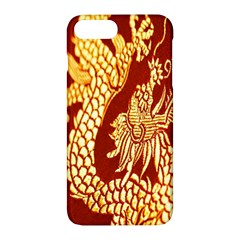 Fabric Pattern Dragon Embroidery Texture Apple Iphone 7 Plus Hardshell Case by Simbadda
