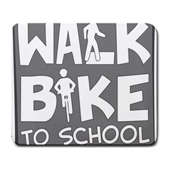 Bicycle Walk Bike School Sign Grey Large Mousepads by Alisyart