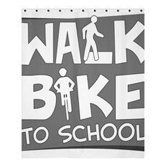 Bicycle Walk Bike School Sign Grey Shower Curtain 60  X 72  (medium)  by Alisyart