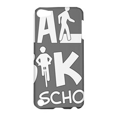 Bicycle Walk Bike School Sign Grey Apple Ipod Touch 5 Hardshell Case by Alisyart